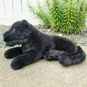 "🐈Vintage Stuffed Black Jaguar/Panther 16"" Plush"